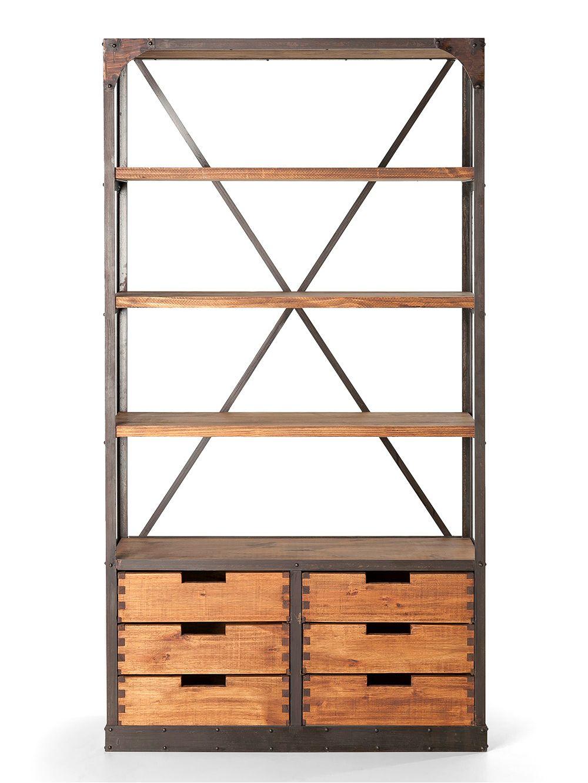Landmark-Muebles-6cajones-Estanteria-0